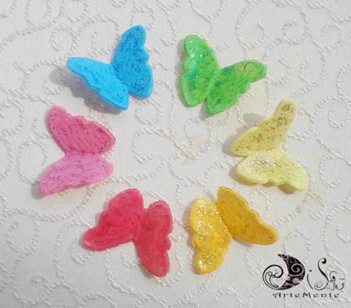 Farfalle decorative colorate glitter o non glitter