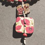 C5.15 - Girocollo Oriente con perle colorate e bottoni in legno - Linea Spring