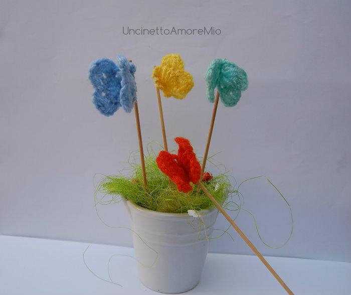 Farfalle  in giallo, azzurro, arancione, verde acqua marina: decorazioni  primavera - Pasqua - compleanni e feste