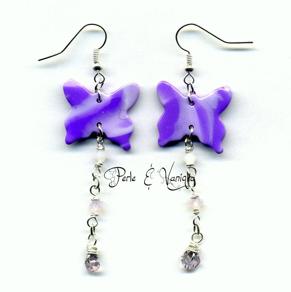SCONTATI ♥ Kerry ♥ orecchini farfalla viola