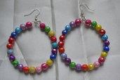 orecchini cerchio multicolor