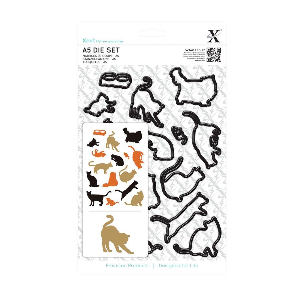 Set fustelle A5 Xcut - Mixed Cats