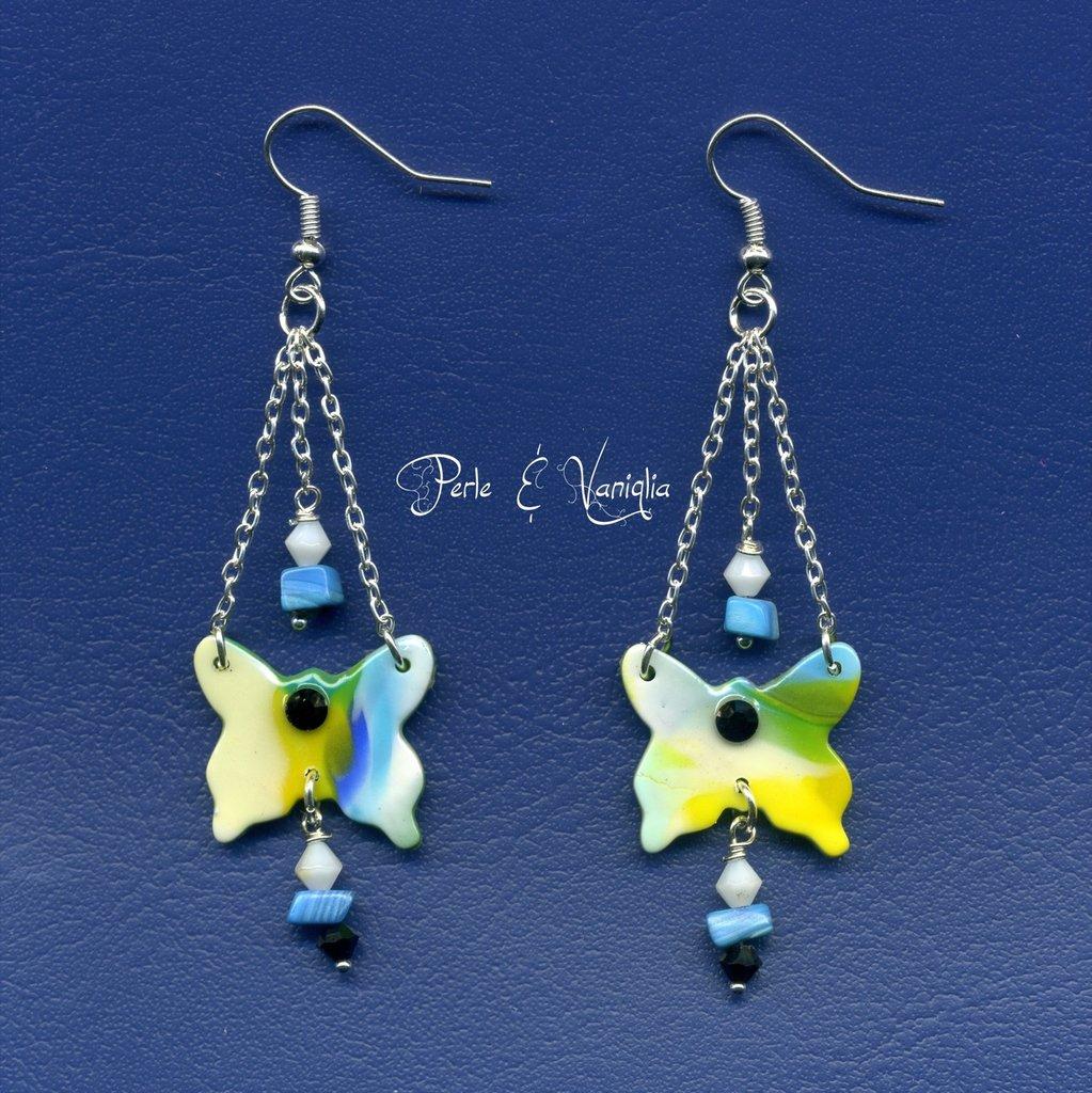 SCONTATI ♥ Emma ♥ orecchini farfalla multicolori