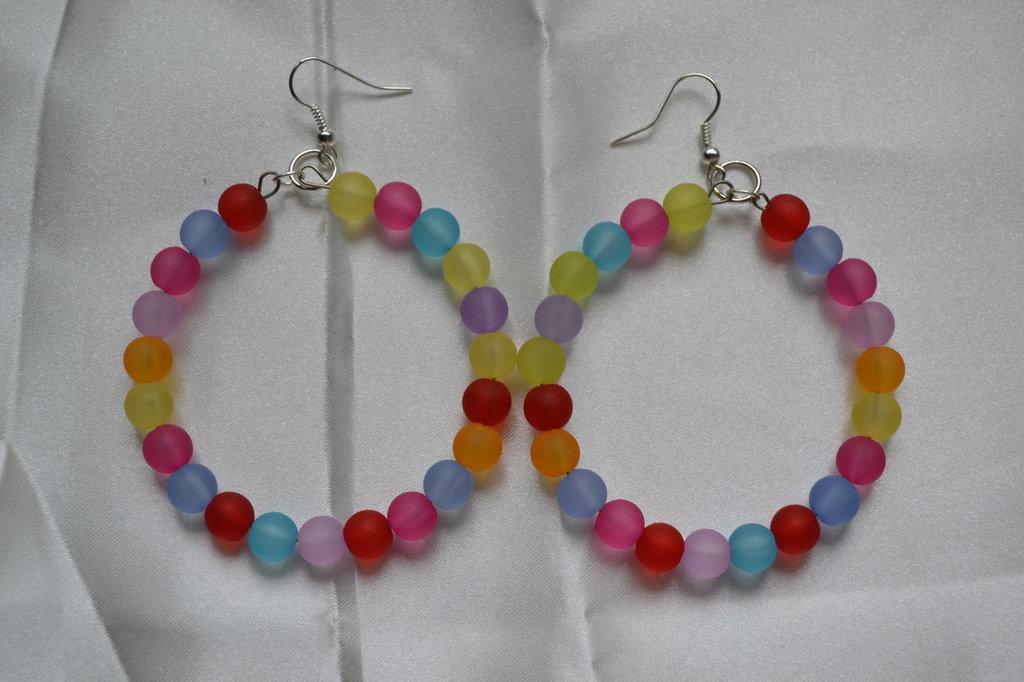 orecchini cerchio arcobaleno