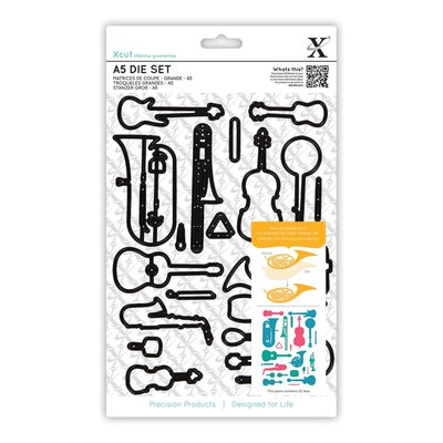 Set fustelle A5 Xcut - Musical Instruments