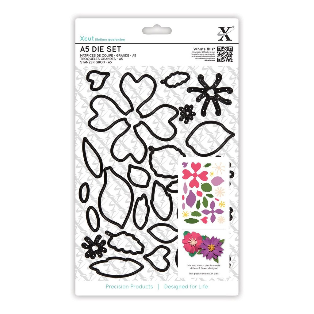 Set fustelle A5 Xcut - Flowers