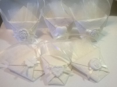 Bustina porta confetti con gesso
