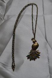 collana lunga pavone