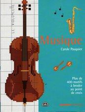 Musique - Carnet de Point de Croix - Carole Pasquier