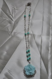 "collana ""rose Turquoise"""