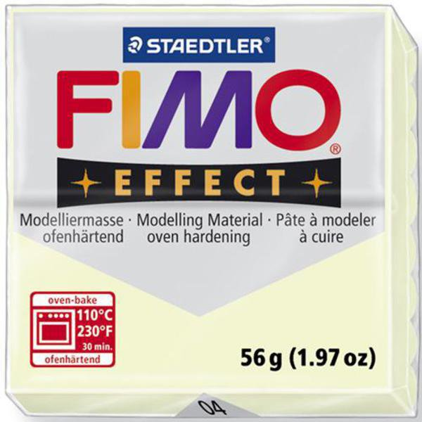 Panetto Fimo Effect 56 gr. - n. 04 Luminescente