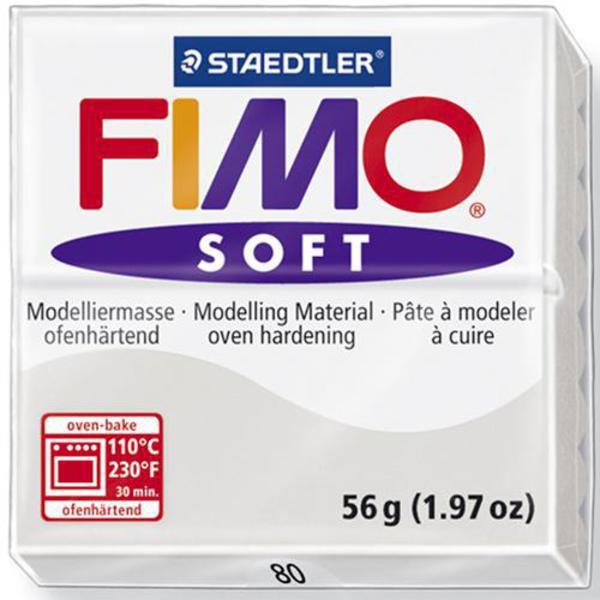 Panetto Fimo Soft 56 gr. - n. 80 grigio delfino