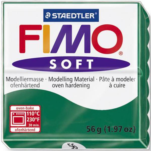 Panetto Fimo Soft 56 gr. - n. 56 verde smeraldo