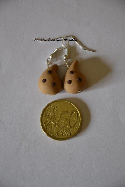orecchini in fimo- gocciole pavesi- orecchini spiritosi fatti a mano