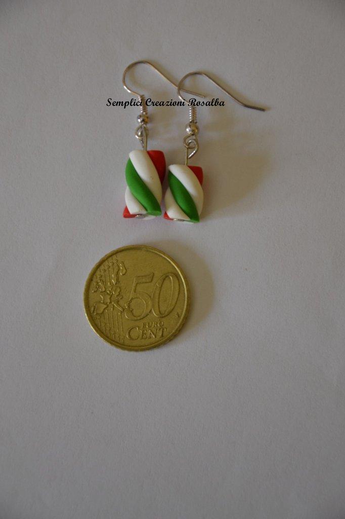 orecchini in fimo- marshmallow - vari colori- orecchini spiritosi fatti a mano