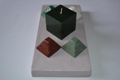 Porta candela e porta incenso rettangolare