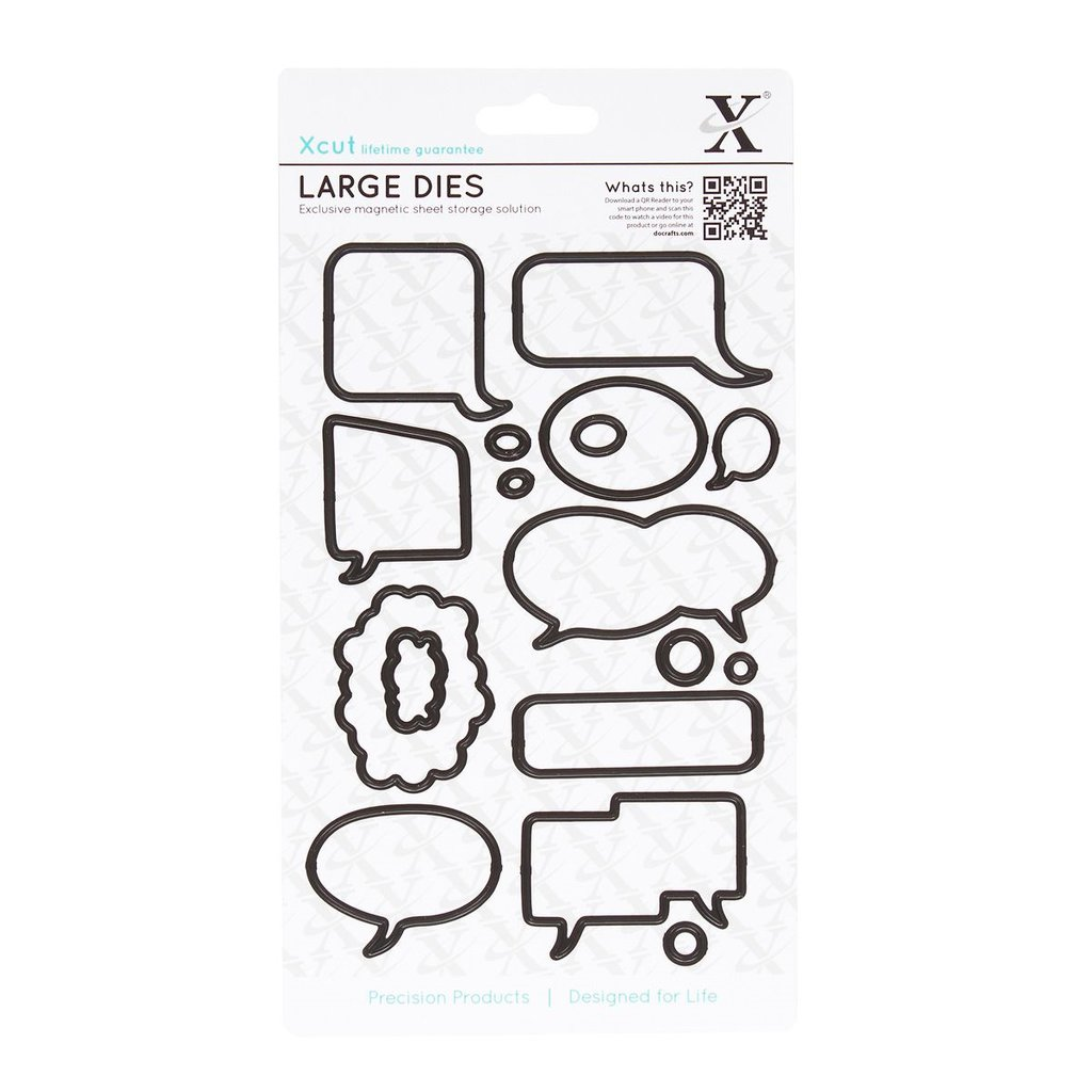 Set fustelle XCut Large - Speech Bubbles