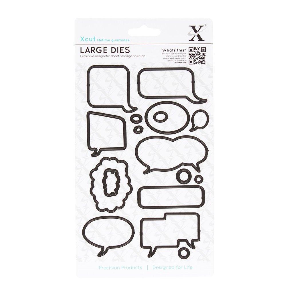 Set fustelle XCut Large - Speech Bubbles
