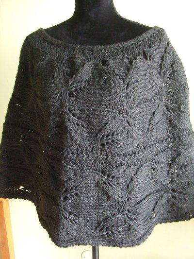 poncio copri soalle maglia traforata lana donna
