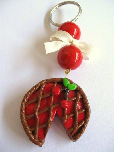 Portachiavi crostata di ciliegie