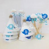 Decorazioni per una festa a tema 'elefantino' azzurro: come personalizzare il vostro coordinato!
