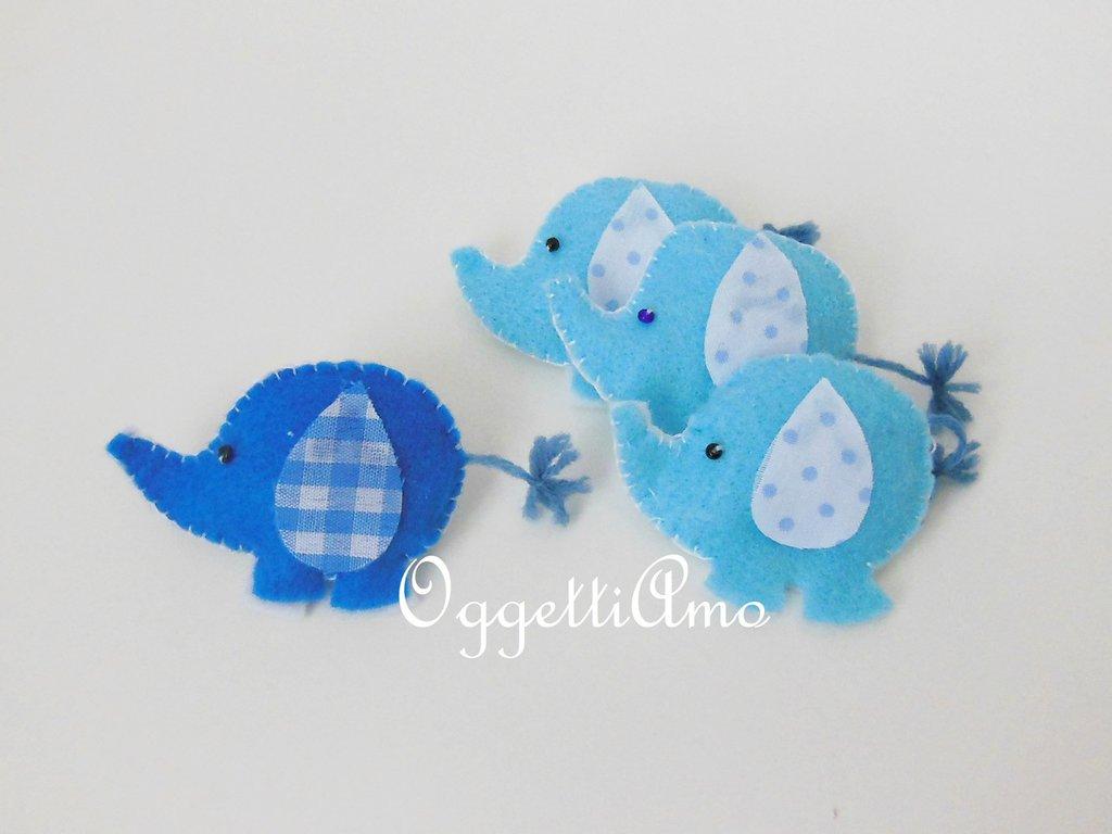 Un grazioso elefante come bomboniera per il battesimo del vostro bambino: un elefantino azzurro per celebrare la sua nascita!