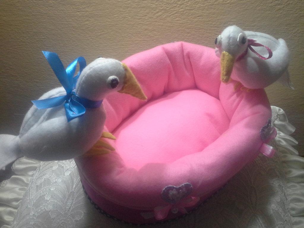 cestino pasquale con colombe