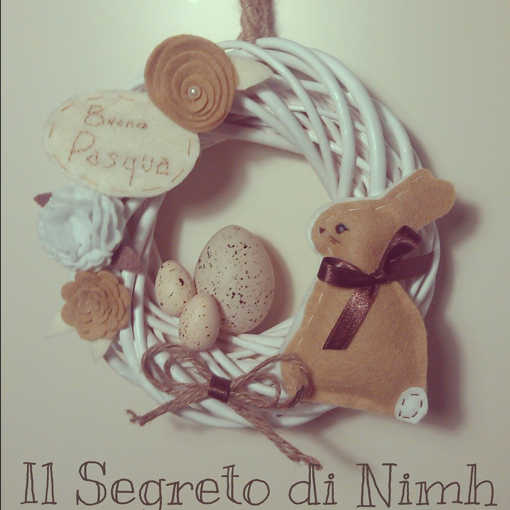 Ghirlanda Pasquale SHABBY CHIC bunny