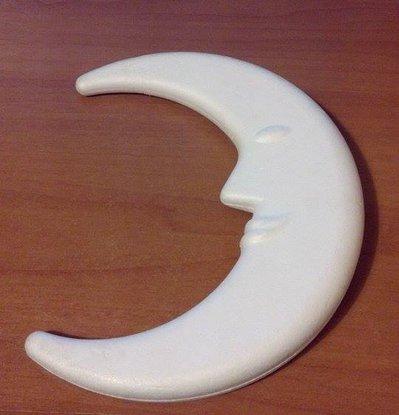 Mezza luna (da personalizzare con paillettes) con faccia in risalto