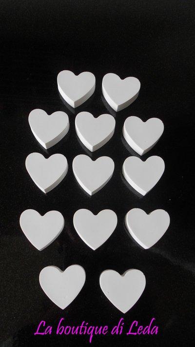 Gessetti per bomboniera  a forma di cuore