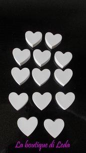 Gessetto per bomboniera  a forma di cuore