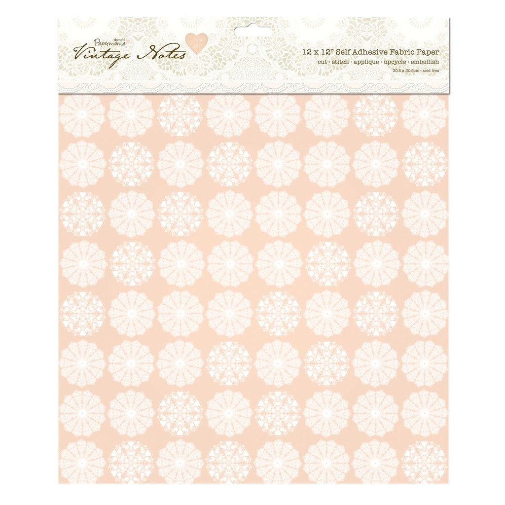 "Fabric Paper 30x30 cm - Vintage Notes ""Filigree"""