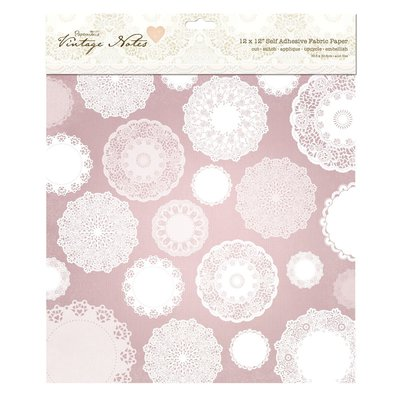 "Fabric Paper 30x30 cm - Vintage Notes ""Filigree Lace"""