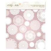 """Fabric Paper 30x30 cm - Vintage Notes """"Filigree Lace"""""""