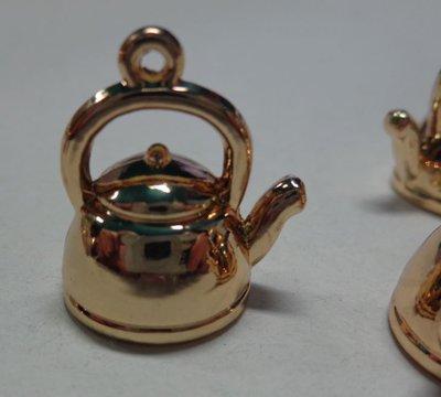 4 Mini Teiere Dorate