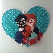 Quadretto cuore innamorati