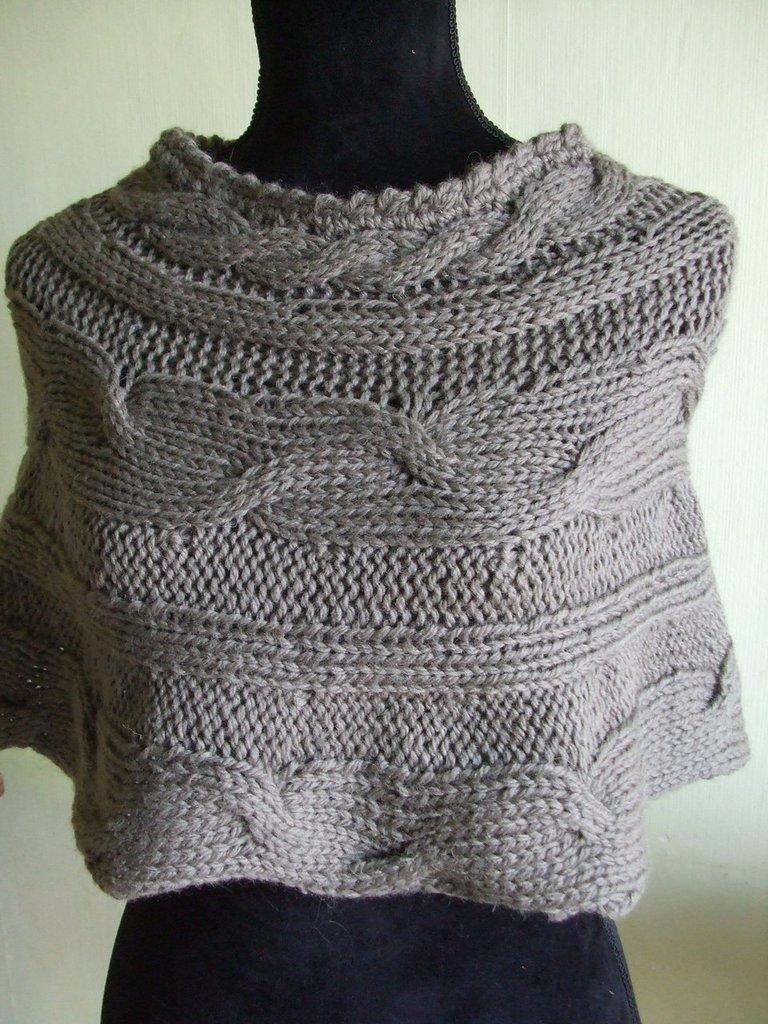 copri spalle lana donna maglia