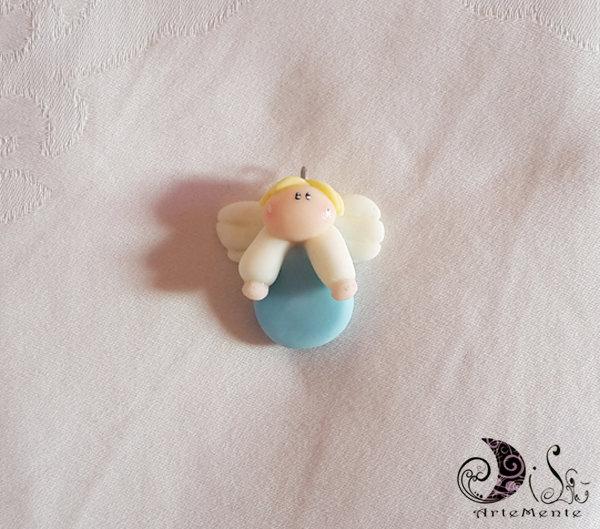 Bomboniera battesimo angioletto ciondolo, charm bomboniera per nascita e battesimo