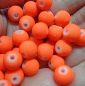 40 Perline Vetro color FLUO ARANCIONE