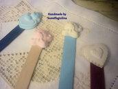 segnalibri con decorazione polvere di ceramica
