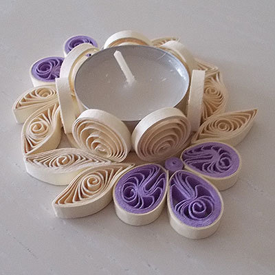 portacandela fiore ovale