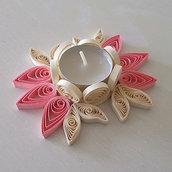 Portacandela petali ovale