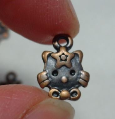 9 Ciondoli in Argento Tibetano KITTY