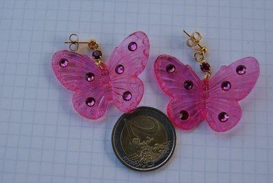 orecchini farfalle lucite.