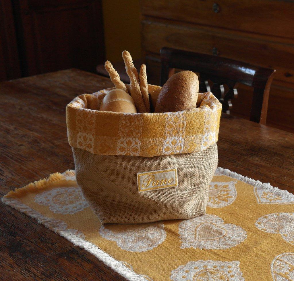 Porta pane in juta sfoderabile