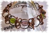 bracciale in chainmail bronzo