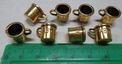 8 Ciondoli in Argento Tibetano TAZZINE
