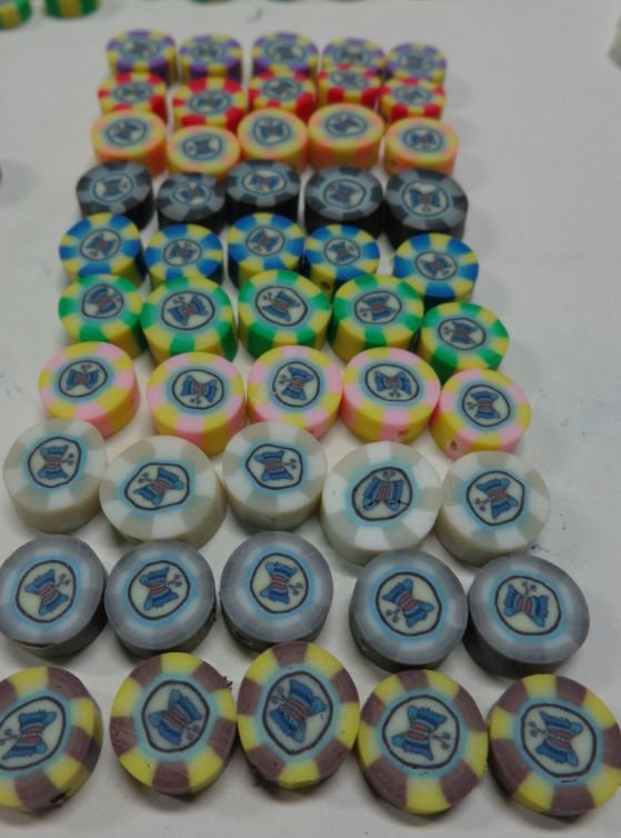 50 Perline Pasta Polimerica CHIPS in 10 colori