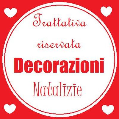 Set di 30 addobbi di Natale in feltro rosso e bianco: calamite e decorazioni in pannolenci