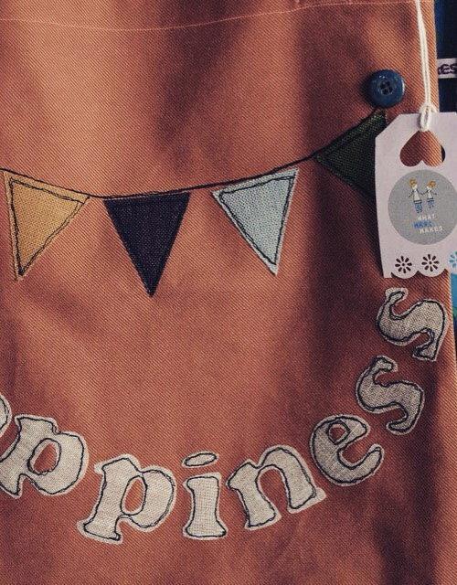 """Colorata shopper bag per neo mamme """"happyness"""""""